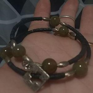 Real Jade/Sterling bracelet